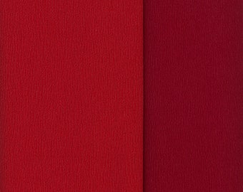 Gloria Doublette Double Sided Crepe Paper For Flower Making Made In Germany Red And Wine  #3331