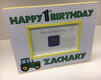 First Birthday Tractor Frame