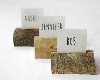 150 pieces rustic place card holders, Wedding place cards and name card holders.