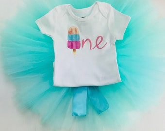 Baby Girl first birthday outfit Ice Cream | 1st Birthday Girl Outfit Ice Cream | Popsicle birthday outfit | One Year Old Girls Birthday
