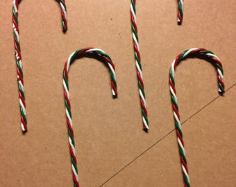 Upcycled Candy Cane Ornaments (pkg of 10)