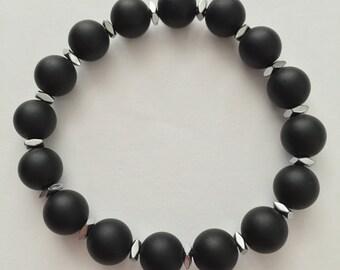 Black Onyx stretchable bracelet