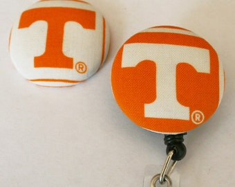 Your Favorite Team Covered Buttons Retractable Badge Reels ID Holders University of Tennessee Vols