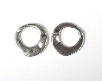 10pcs Antique Silver Ring Bead Frames 20mm(No.246Y)