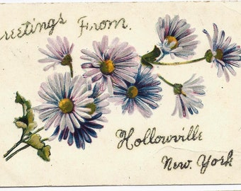 Old Vintage Postcard, 1909, Hollowville, New York