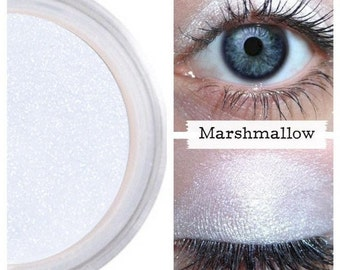 Eye Shimmer, Platinum Ice White, For Face Eyes Body, PureEco natural, Eyeshadow, Eye Shadow, Mineral Makeup, Brighten Eyes, Marshmallow