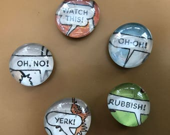 Set of 5 Beano Annual Glass Fridge Magnets