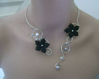 Original black/gray/silver/nickle free pr dress bridal/wedding/party/ceremony/new year's Eve (cheap cheap) Silk Flower necklace
