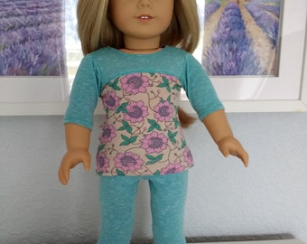 18 inch AG Doll outfit, doll top and leggings, 18 inch doll clothes
