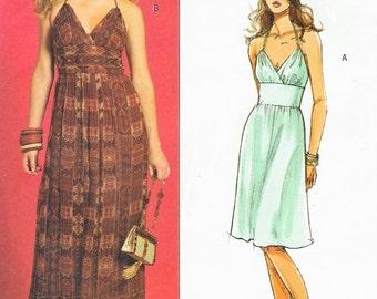 Muse Womens Summer Halter Dress Boho Dress OOP Butterick Sewing Pattern B4977 Size 6 8 10 12 Bust 30 1/2 to 34 UnCut
