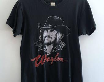Vintage 80s Waylon Jennings t-shirt
