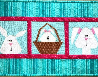 Easter Table Runner and Potholders, Paper Pieced Patterns in PDF