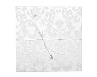 leporello photo album with fabric wedding