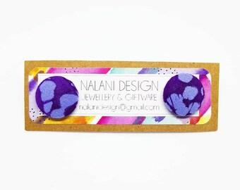 SALE- Indonesian Batik Fabric Studs