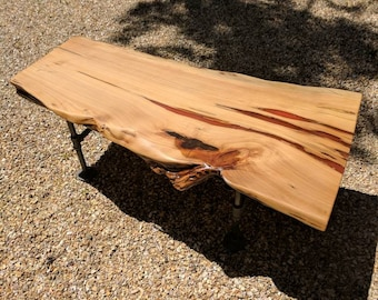 Custom 4' Live Edge California Redwood Coffee Table