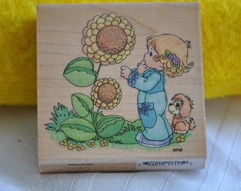 The Sky's the Limit UQ003   Rubber Stamp  1995 Precious Moments   Stampendous   Vintage
