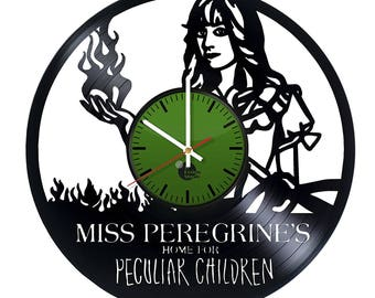 Miss Peregrine's Home for Peculiar Children Vinyl Record Wall Clock
