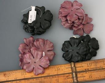 Contemporary German Resin Flower Beads. Wholesale pricing. Floral jewelry design. Strands of flower beads. Beadwork, Jewelry making, supply.