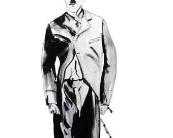 Charlie Chaplin - Fine Art Print
