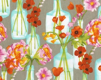 Michael Miller Fabrics Vignette Posie Bouquet in Bloom 1/2 Yard by Laura Gunn