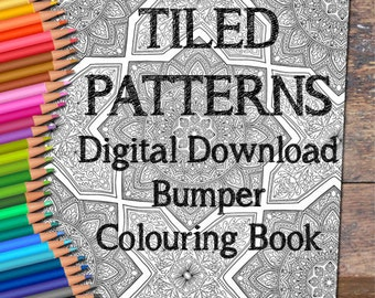Tiled Patterns Colouring Pack