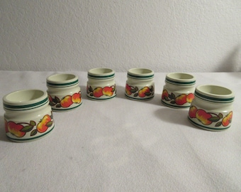 Vintage Colorful Egg Cups - 6