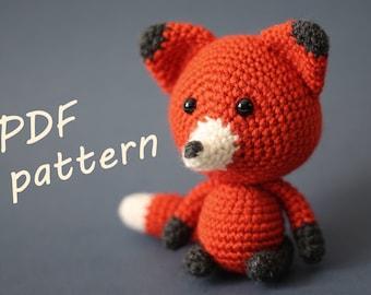 PATTERN Crochet Fox, amigurumi fox pattern, fox pdf tutorial (English)