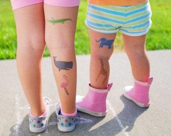 Kids Animal Tattoos, Zoo theme temporary tattoos