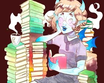 A5 print Bookubus monster girl