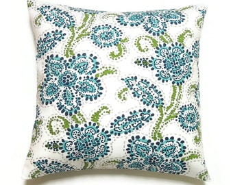 Outdoor Pillows, Blue Decorative Pillows, Blue Lake House Pillow, Beach House Pillow, 16x16 Pillow Cover, Porch Decor, Outdoor Riley Oxford
