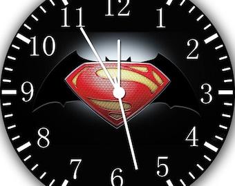Superman V Batman Frameless Borderless Wall Clock E22 Nice For Gifts or Home Decor