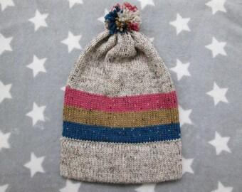Knit Pride Hat - Pan Pride - Cream Wool Tweed