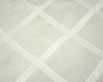 CLOSEOUT FABRIC - Royalton Striped  Dress Apparel - White - 2.25 Yard