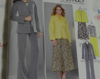 Simplicity 1944 Misses Jacket in Two LEngths Top Skirt and Pants - UNCUT - Size 16 18 20 22 24
