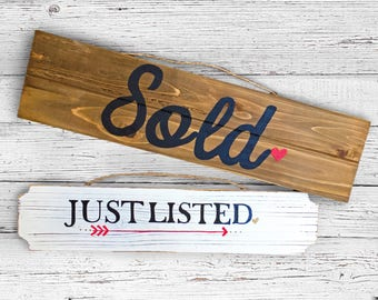 Just Listed and Sold Realtor Wooden Sign Pack.