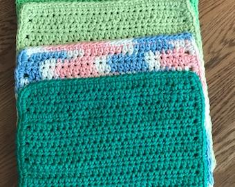 Cotton DishCloth or Washcloth set of 5