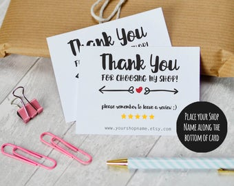 Etsy shop thank you cards and care cards set of 2 instant etsy shop thank you cards instant download etsy sellers printable packaging cards for colourmoves