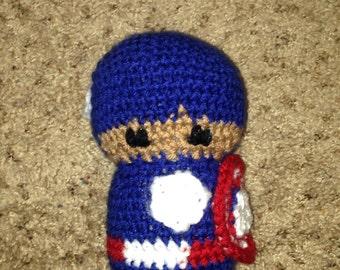 Crochet Avengers Captain America doll