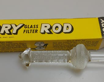 Vintage Cory Glass Filter Rod for making Coffee or Tea