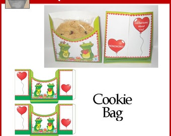 Frog Love Valentine Cookie Bags