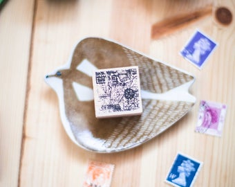 Anatomy series: City Map - decorative wooden planner stamp suitable for planning, journaling and happy mail -CMW-