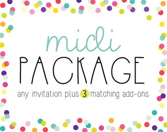 Midi Party Package - Invitation Plus Any 3 Items