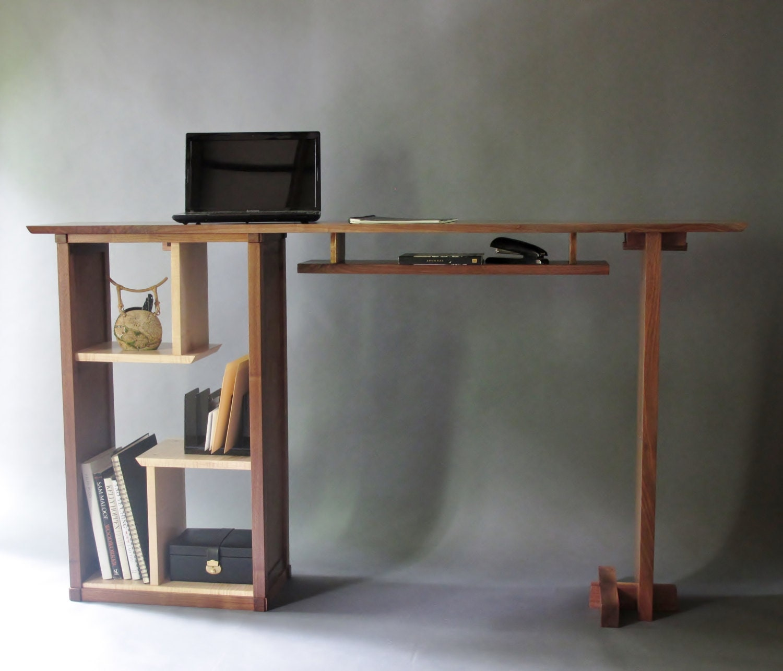 Stand Up Desk in Walnut Modern Home fice Custom Wood