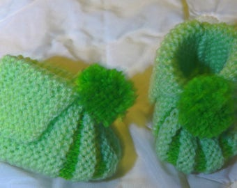 Baby Pixie slippers in wool