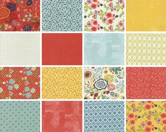 Trinkets Kit - 16 fat quarters - Biscuits and Gravy Fat Quarter Bundle - cotton quilting fabric by Basic Grey for Moda Fabrics