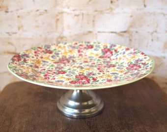 Vintage Flora Cake Stand or Plate