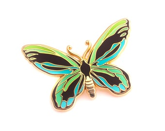 Queen Alexandra's Birdwing Enamel Pin (butterfly pin hard enamel pin lapel pin badge jewelry cute butterfly jewelry cloisonne backpack pins)