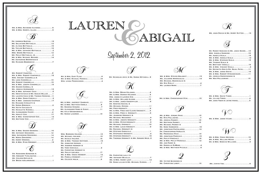 ... Wedding Seating Chart Table Assignments Reception Seating; Wedding Seating Chart Template ...  sc 1 st  Wedding Decoration Ideas & Wedding Reception Seating Plan Template Images - Wedding Decoration ...