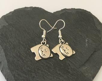 Cat earrings / cat jewellery / cat lover gift / pet jewellery / animal earrings / animal jewellery / animal lover gift