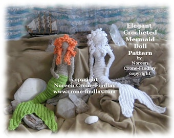 Free Crochet Amigurumi Mermaid Pattern : Mermaid doll etsy studio